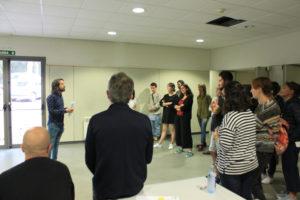 Dinámica de grupo durante a sesión
