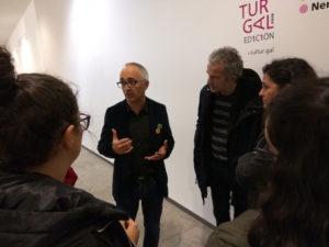 Xosé M. Aldea, coordinador de Culturgal, nun encontro co alumnado da 5ª edición do Curso